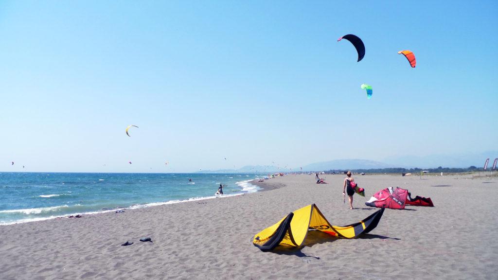 Kitesurfen aan de Adriatische Zee