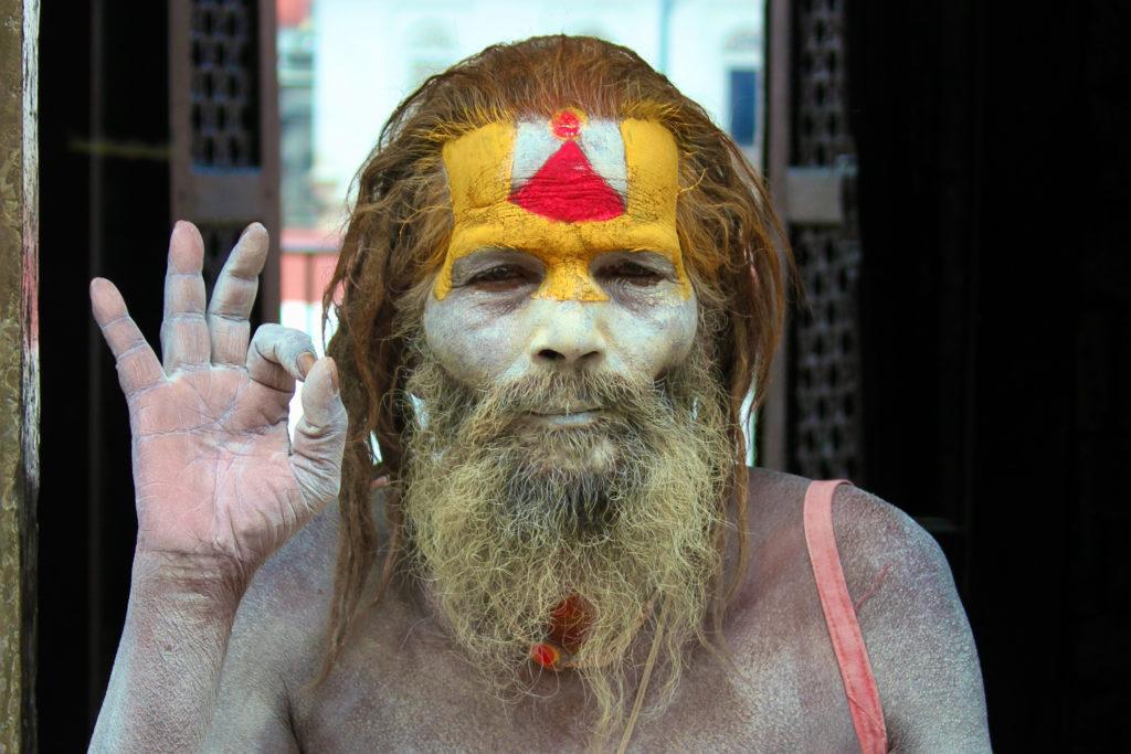 Heilige sadhoe man-Kathmandu