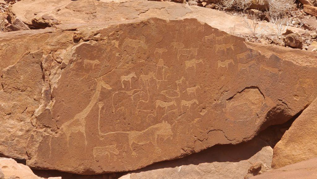 Rotstekeningen Twyfelfontein