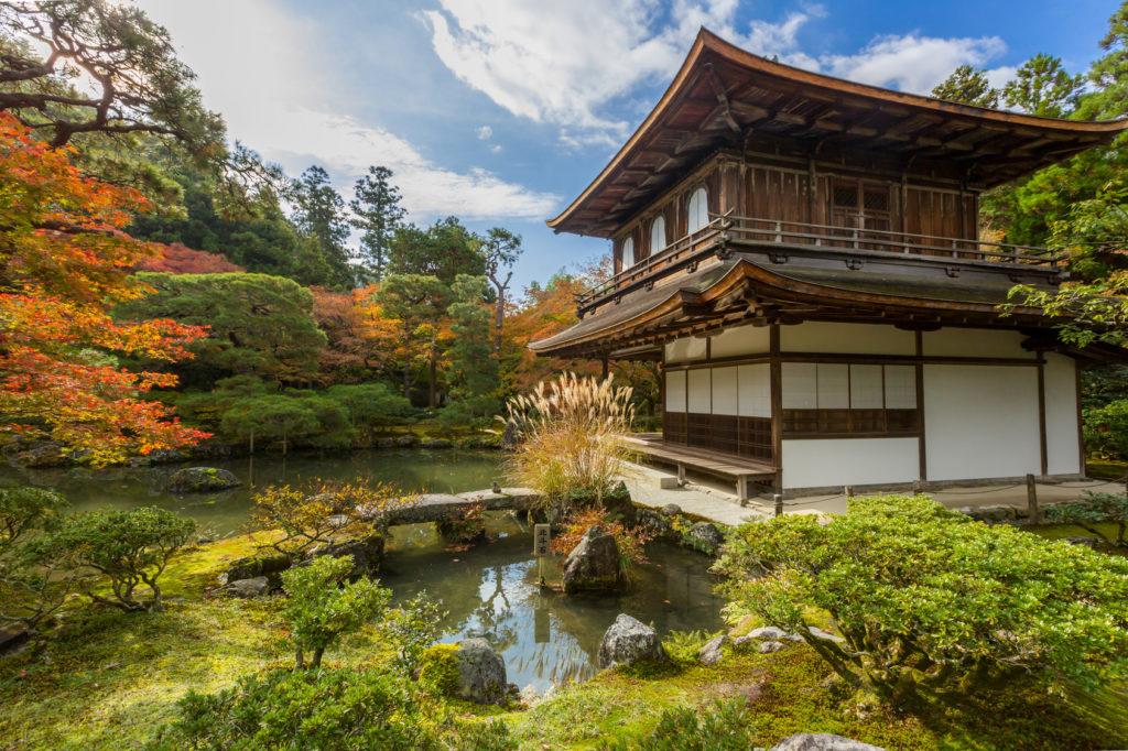 Ginkakuji tempel en paviljoen in keizerlijk Kyoto