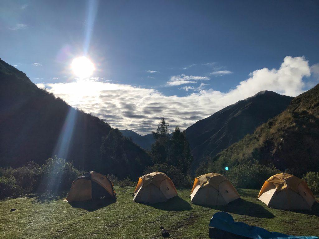 Colca Canyon trekking slapen in tenten