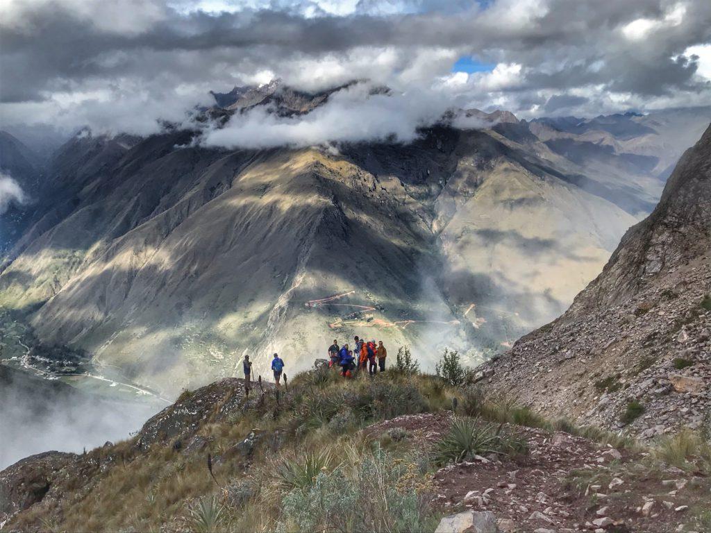 Colca Canyon trekking uitzicht op de groep