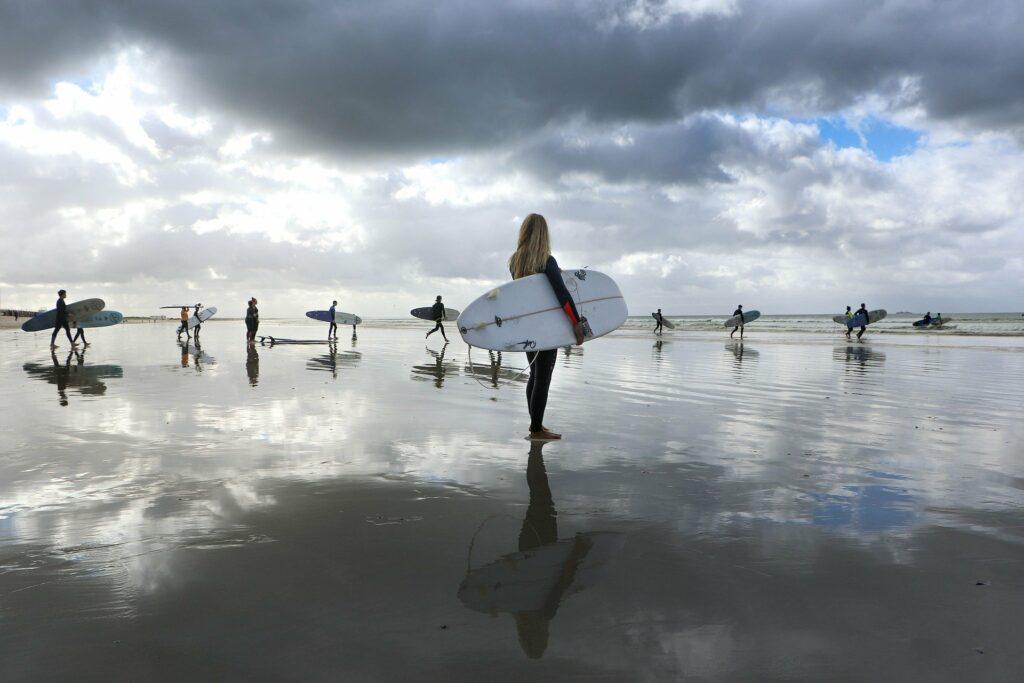 Surfles in groep