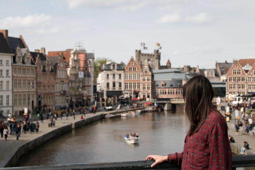 De gras- en Korenlei van Gent